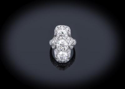 Art Deco 6ct diamond ring in platinum