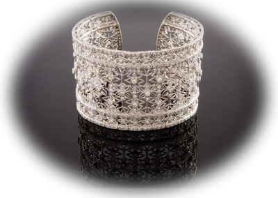 14.52 ct diamond filligree cuff bracelet