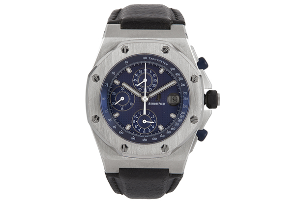 Audemars Piguet Royal Oak Offshore Chronograph, Stainless Steel with Leather Strap - Front