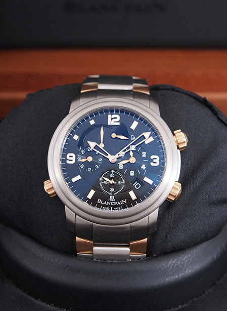 Blancpain Leman GMT Alarm in titanium and 18kt rose gold