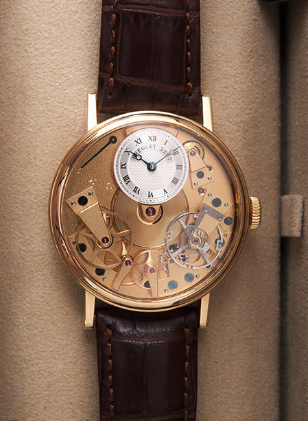 Breguet La Tradition in 18kt yellow gold with brown crocodile strap