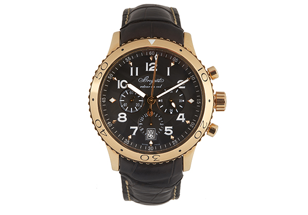 Breguet Transatlantic Type XX1, 18k Rose Gold with Crocodile Strap - Front