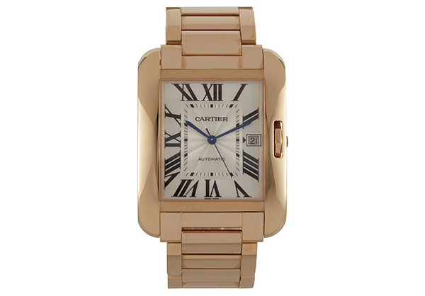 Cartier Large Tank Anglaise in 18K rose gold - Front