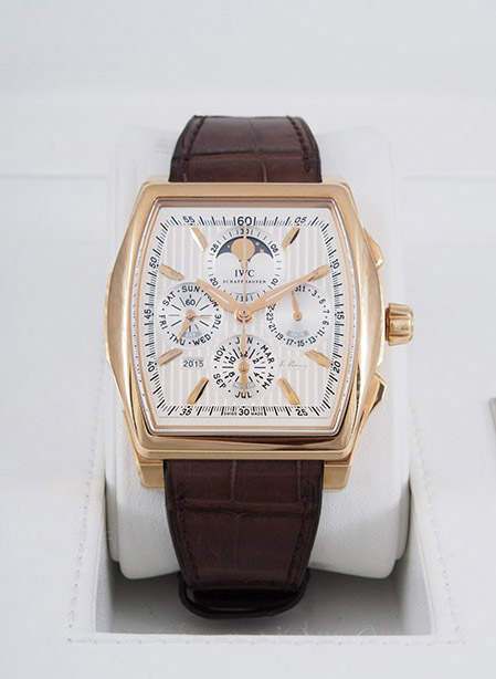 IWC Da Vinci Vintage Perpetual in 18kt rose gold with brown alligator strap #185 out of 500