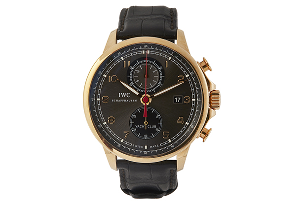 IWC Portuguese Yacht Club in 18K rose gold with black crocodile strap - Front