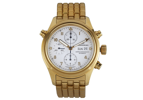 IWC Split Second Der Doppelchronograph in 18K yellow gold - Front