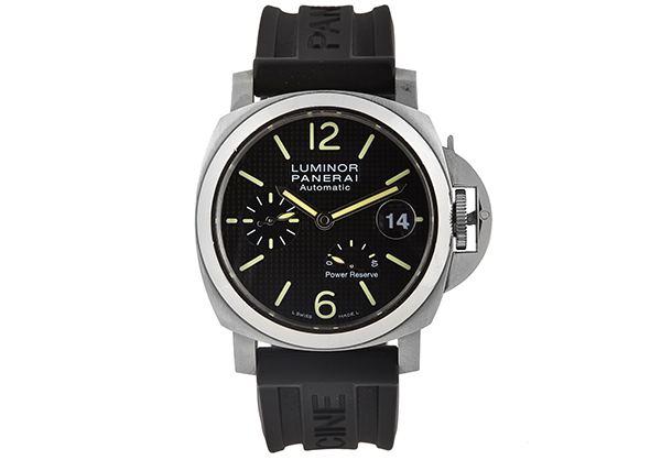 Panerai Luminor Power Reserve in Stainless Steel with rubber strap - Front