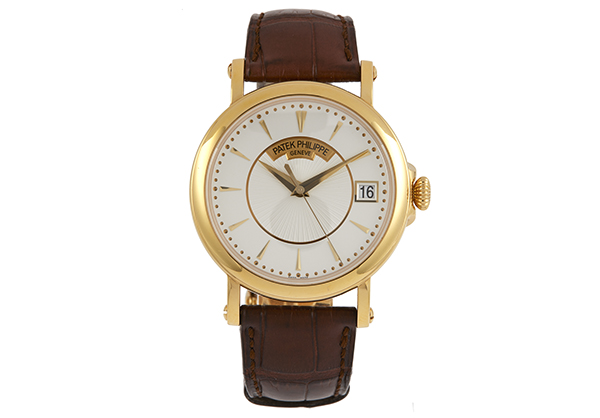 Patek Philippe Calatrava 5153 in 18K yellow gold with crocodile strap - Front