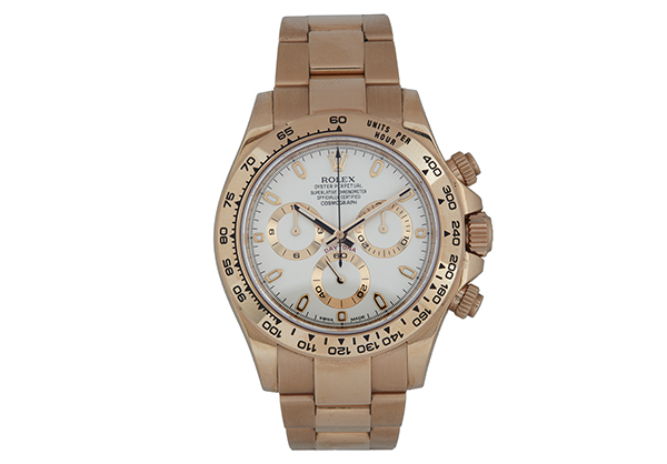 Rolex Daytona in 18K rose gold with Ivory dial - Front