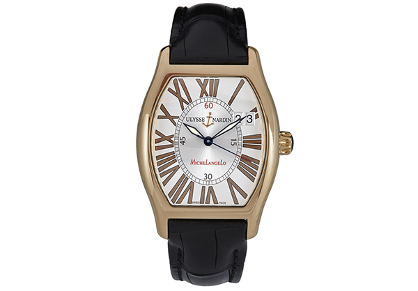 Ulysse Nardin Ludovico Perpetual 336-48 in 18K rose gold with crocodile strap - Front