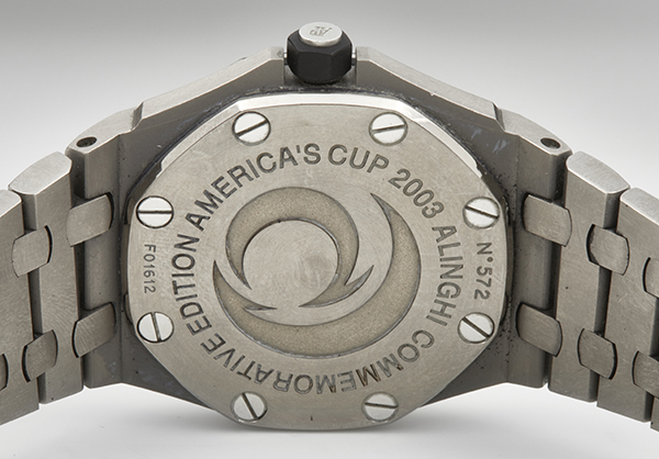 Audemars Piguet Royal Oak LE Allinghi America's Cup 2003 in Titanium - Back