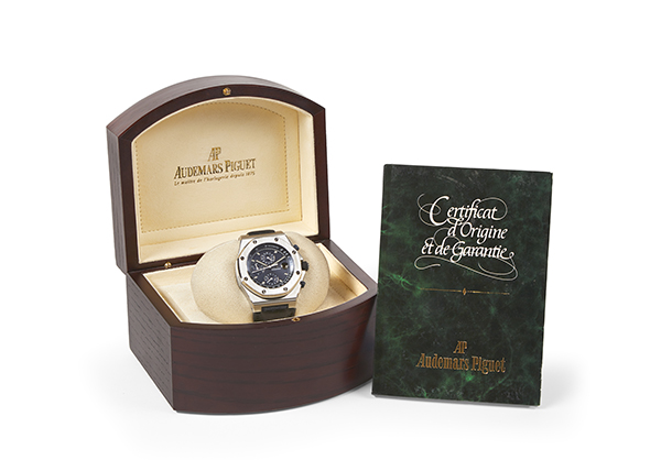 Audemars Piguet Royal Oak Offshore Chronograph, Stainless Steel with Leather Strap - Box