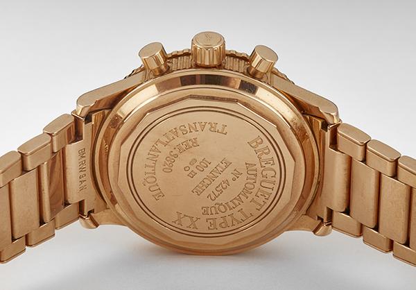 Breguet Transatlantic Type XX, 18k Rose Gold with Rose Gold Bracelet - Back