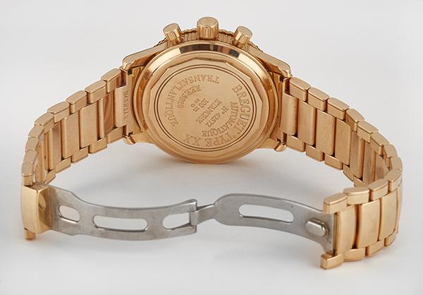 Breguet Transatlantic Type XX, 18k Rose Gold with Rose Gold Bracelet - Open