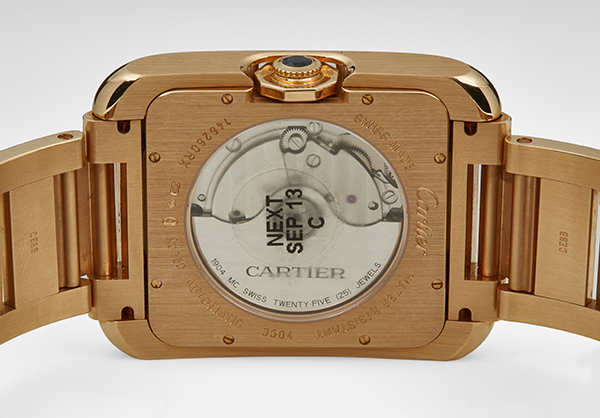 Cartier Large Tank Anglaise in 18K rose gold - Back
