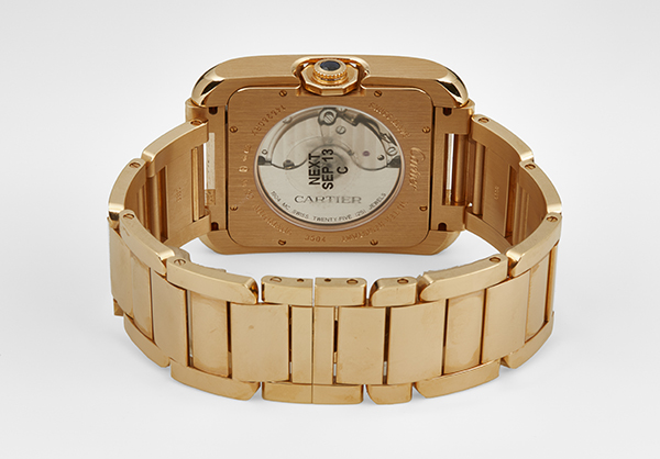 Cartier Large Tank Anglaise in 18K rose gold - Closed