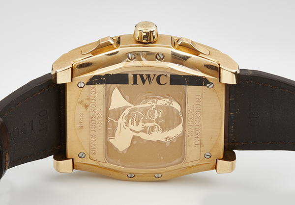 IWC Limited Edition DaVinci Vintage Perpetual Calendar in 18K rose gold with Crocodile strap - Back