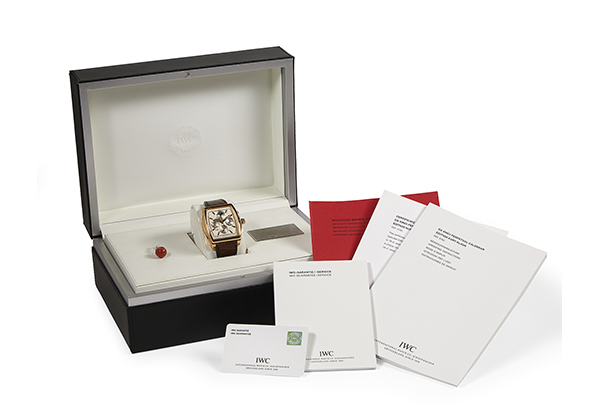 IWC Limited Edition DaVinci Vintage Perpetual Calendar in 18K rose gold with Crocodile strap - Box