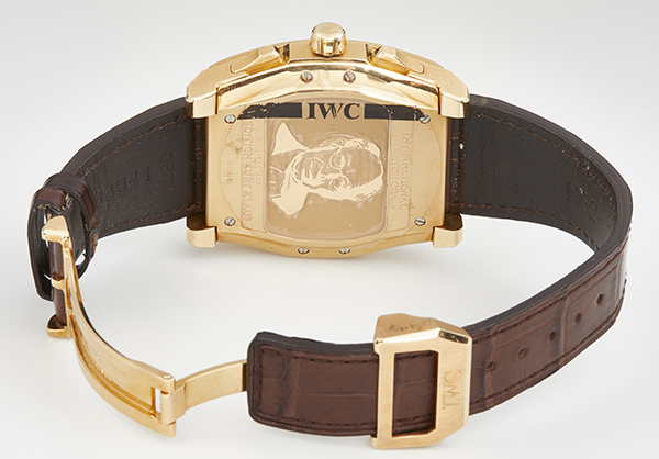 IWC Limited Edition DaVinci Vintage Perpetual Calendar in 18K rose gold with Crocodile strap - Open