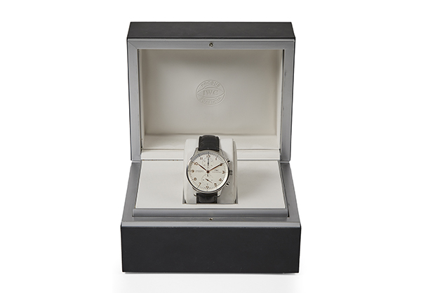 IWC Portuguese Chronograph in Stainless Steel with crocodile strap - Box