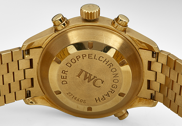 IWC Split Second Der Doppelchronograph in 18K yellow gold - Back