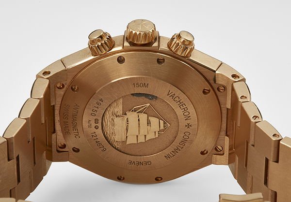 Vacheron & Contsantin Overseas Chrnograph in 18K rose gold - Back